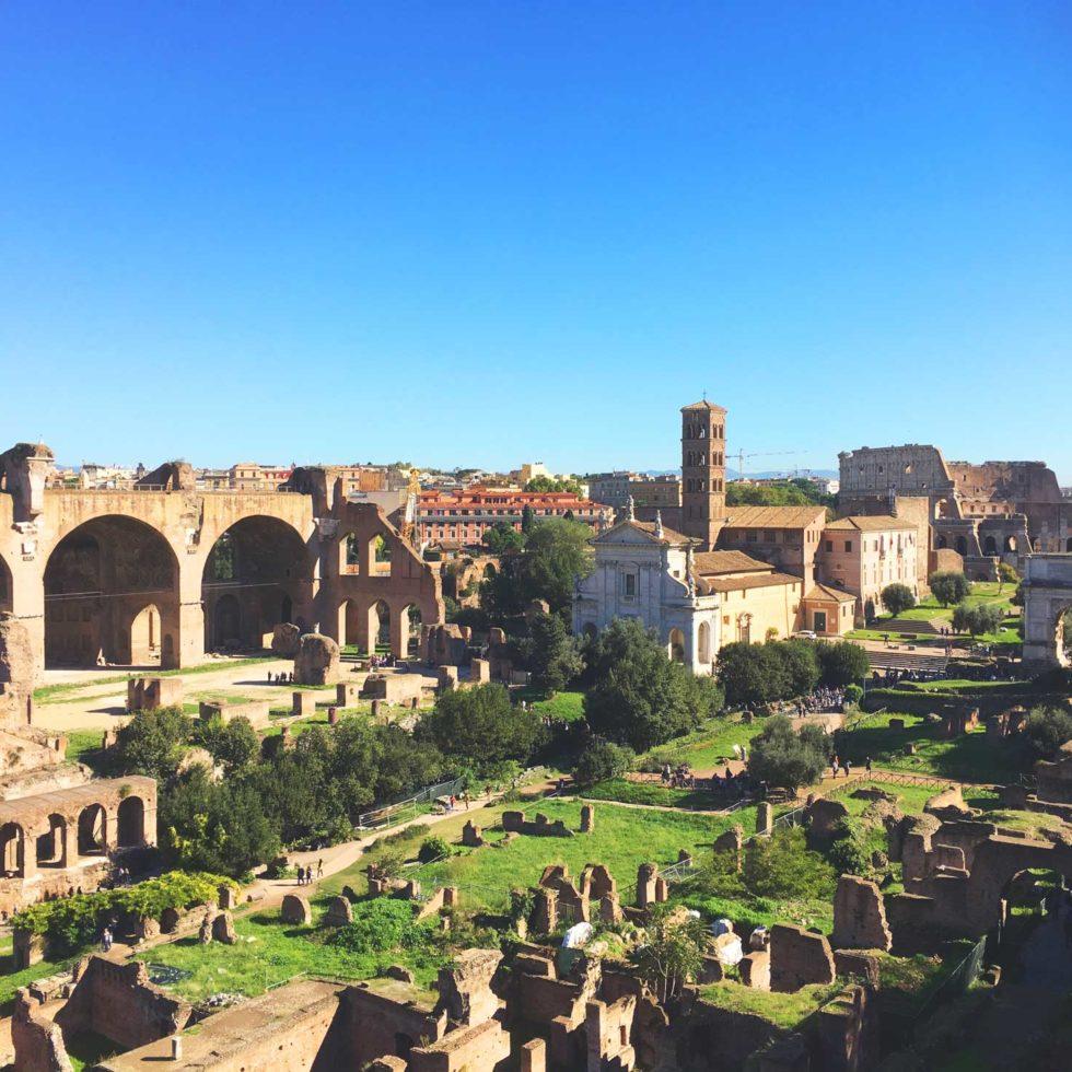 Kolloseum und Forum Romanum